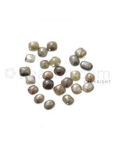 24 Medium Tones Diamond Mix Shape Rose Cut Diamonds - 35.50 cts. (DRC1242)