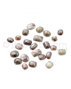 24 Medium Tones Diamond Mix Shape Rose Cut Diamonds - 40.14 cts. (DRC1248)
