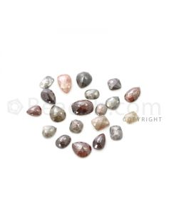 20 Medium Tones Diamond Mix Shape Rose Cut Diamonds - 26.06 cts. (DRC1250)