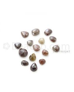 15 Medium Tones Diamond Mix Shape Rose Cut Diamonds - 34.97 cts. (DRC1251)