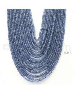 17 Lines - 2.6 to 5.5 mm - Medium Blue Sapphire Faceted Beads - (SFB1077)