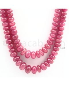 Pink Sapphire Roundel Beads - 2 Lines - 469.55 carats - 20 to 21 inches - (PnSRoB1001)