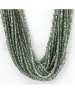 16 Lines - 2.7 to 4 mm - Light Green Sapphire Faceted Beads - 783.85 cts. (GSFB1013)