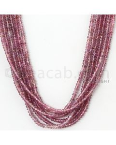 6 Lines - 2.7 to 3.2 mm - Medium Purple Sapphire Faceted Beads - 235.00 cts. (PPSFB1001)