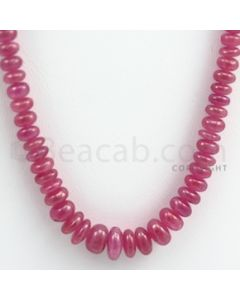 Pink Sapphire Roundel Beads - 1 Line - 189.00 carats - 18 inches - (PnSRoB1011)