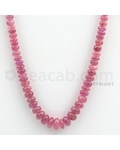 Pink Sapphire Roundel Beads - 1 Line - 137.00 carats - 16 inches - (PnSRoB1012)