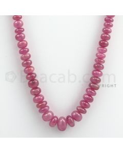 Pink Sapphire Roundel Beads - 1 Line - 232.35 carats - 16 inches - (PnSRoB1014)