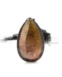 1 pc - Brown - Tourmaline Faceted Drop (AAA) - 35 cts. (TFD1054)