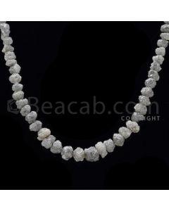 1 Line - Gray Diamond Rough Beads - 91.5 cts - 5.50 to 7.10 mm (RODB1019)