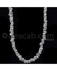 1 Line - Gray Diamond Rough Beads - 110.50 cts - 4.70 to 6.30 mm (RODB1014)