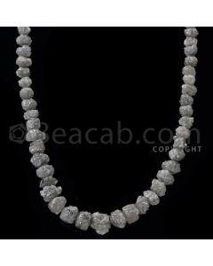 1 Line - Gray Diamond Rough Beads - 93.5 cts - 3.80 to 8.50 mm (RODB1020)