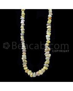 1 Line - Yellow Diamond Rough Beads - 86.00 cts - 4 to 8.10 mm (RODB1023)