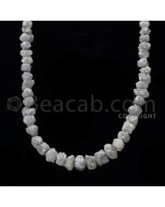 1 Line - Gray Diamond Rough Beads - 78.20 cts - 5 to 8.50 mm (RODB1021)