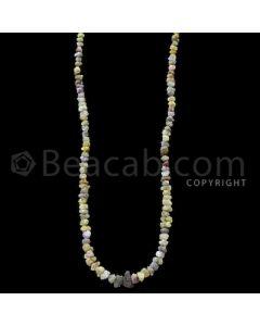 1 Line - Yellow Diamond Rough Beads - 97.50 cts - 4.50 to 10.50 mm (RODB1022)