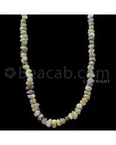 1 Line - Yellow Diamond Rough Beads - 94.50 cts - 3.50 to 7.60 mm (RODB1024)