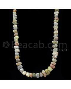 1 Line - Yellow Diamond Rough Beads - 108.00 cts - 4.50 to 7.20 mm (RODB1018)