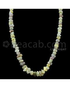 1 Line - Yellow Diamond Rough Beads - 83.00 cts - 4.20 to 8.20 mm (RODB1025)