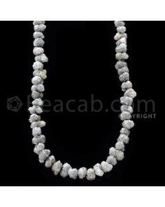 1 Line - Gray Diamond Rough Beads - 107.32 cts - 4.50 to 7 mm (RODB1017)