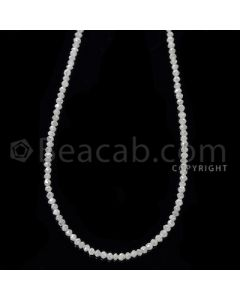 1 Line - White Diamond Faceted Beads - 14.50 cts - 2 to 2.40 mm (WDB1059)