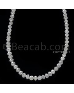 1 Line - White Diamond Faceted Beads - 21.50 cts - 2.30 to 3.00 mm (WDB1071)