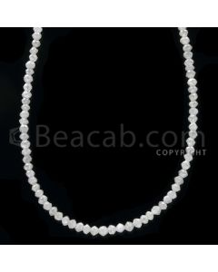 1 Line - White Diamond Faceted Beads - 14.50 cts - 1.90 to 2.50 mm (WDB1060)