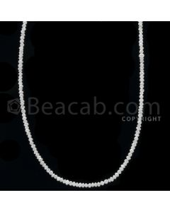 1 Line - White Diamond Faceted Beads - 11.00 cts - 1.80 to 1.90 mm (WDB1054)