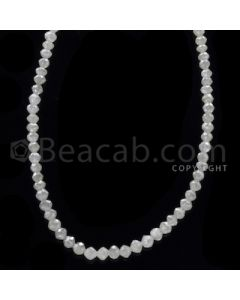 1 Line - White Diamond Faceted Beads - 21.50 cts - 2.30 to 3.60 mm (WDB1065)