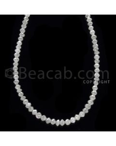 1 Line - White Diamond Faceted Beads - 21.50 cts - 2.30 to 3.00 mm (WDB1064)