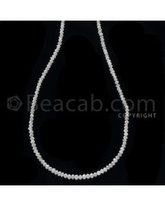1 Line - White Diamond Faceted Beads - 13.00 cts - 1.60 to 2.50 mm (WDB1063)