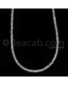 1 Line - White Diamond Faceted Beads - 14.50 cts - 1.90 to 2.50 mm (WDB1058)