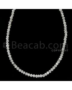 1 Line - White Diamond Faceted Beads - 14.50 cts - 2 to 2.30 mm (WDB1056)