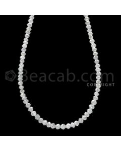 1 Line - White Diamond Faceted Beads - 22.00 cts - 2.30 to 2.90 mm (WDB1067)