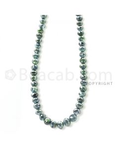1 Line - Blue Diamond Faceted Beads - 54.96 cts - 3.50 to 5 mm (BLUDB1002)