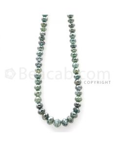 1 Line - Blue Diamond Faceted Beads - 54.32 cts - 3.50 to 5 mm (BLUDB1001)