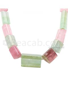 1 Line - Medium Tones Tourmaline Tube Beads - 629 cts - 11.5 x 9.1 mm to 22.4 x 19.5 mm (MTOUR1019)