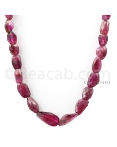 1 Line - Medium Pink Tourmaline Faceted Tumbled Beads - 195.00 cts - 9.5 x 7.5 mm to 20.2 x 11.3 mm (TOFTUB1014)