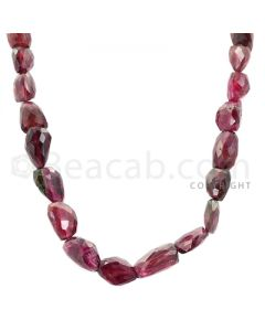 1 Line - Dark Pink Tourmaline Faceted Tumbled Beads - 253.00 cts - 11.9 x 7.2 mm to 18 x 10.9 mm (TOFTUB1016)