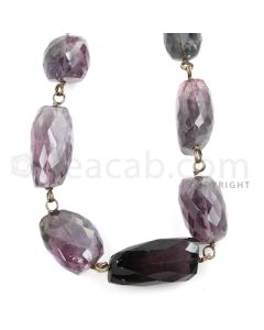 1 Line - Purple Tourmaline Faceted Tumbled Beads - 352.00 cts - 14.6 x 10.7 mm to 24.80 x 15.50 mm (TOFTUB1011)