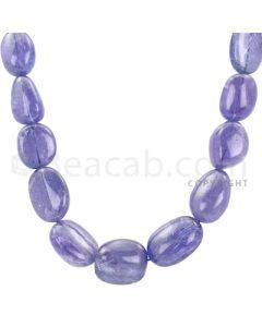 1 Line - Violet Tanzanite Tumbled Beads - 290.15 cts - 10.2 x 9.1 mm to 17.2 x 13 mm (TZTUB1010)