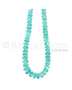 1 Line - Teal Apetite Smooth Beads - 85 cts - 4.7 to 7.6 mm (APSB1001)