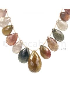 1 Line - Medium Tones Multi-Sapphire Faceted Drops - 626.8 cts - 16.2 x 11.1 mm to 22.3 x 17 mm (MSFD1039)