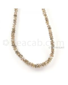 1 Line - Champagne Diamond Faceted Beads - 17.5 cts - 1.7 to 2.7 mm (BRNDIA1032)