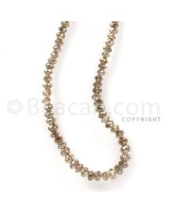 1 Line - Champagne Diamond Faceted Beads - 17.83 cts - 1.9 to 2.7 mm (BRNDIA1031)