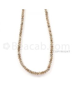 1 Line - Champagne Diamond Faceted Beads - 23.52 cts - 1.9 to 3.2 mm (BRNDIA1041)