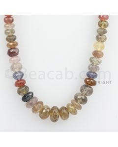 7.00 to 13.00 mm - Multi Sapphire Faceted Beads - 421.00 carats - 21 inches (MSFBnE1029)