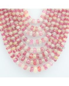 3.50 to 8.00 mm - Yellow Sapphire, Pink Sapphire Faceted Beads - 724.00 carats - 14 to 19 inches (MSFBnE1030)
