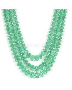 3 Lines - Light Green Emerald Faceted Beads - 313.00 - 3 to 9.3 mm (EMFB1053)
