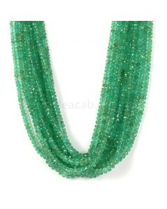 11 Lines - Medium Green Emerald Faceted Beads - 434.75 - 2.5 to 4.5 mm (EMFB1044)