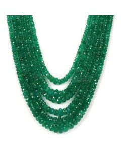 Medium Green Emerald Faceted Beads - 6 Lines - 293.11 - 2.5 to 7.5 mm (EMFB1060)