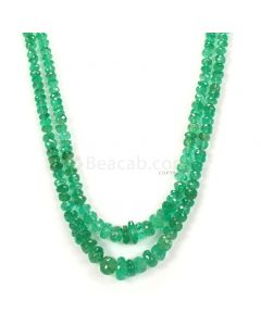 2 Lines - Light Green Emerald Faceted Beads - 208.00 - 4.2 to 11.1 mm (EMFB1064)